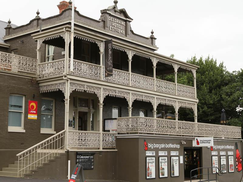 The ornate lacework of the Deloraine Hotel (1848)
