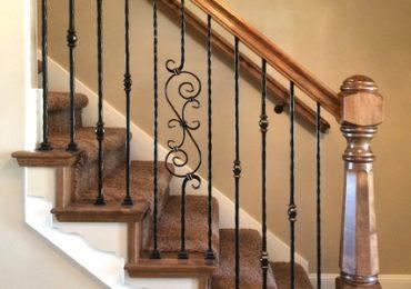 Wrought Iron Balusters add a touch of class to a timber starcase