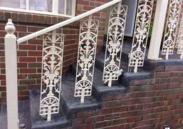 Strathaven Balustrade Newell – double sided aluminium available in four sizes