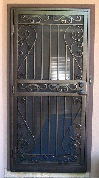 Wrought Iron Security Door Designs